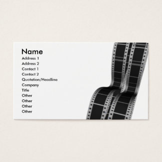 Movie Film Strip Business Card