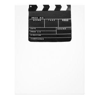 movie film video makers Clapper board design Letterhead