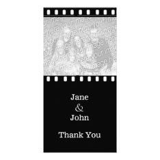 Movie Film Wedding Theme Photo Thank You Card at Zazzle