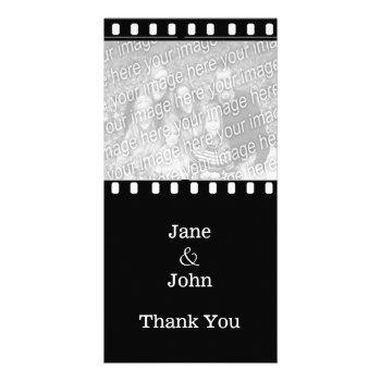 Movie Film Wedding Theme Photo Thank You Card by DigitalDreambuilder at Zazzle