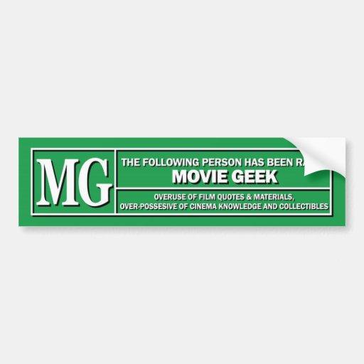 Movie Geek Rating sticker