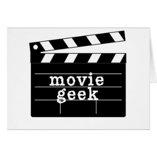 Movie Geek with Clapboard Card