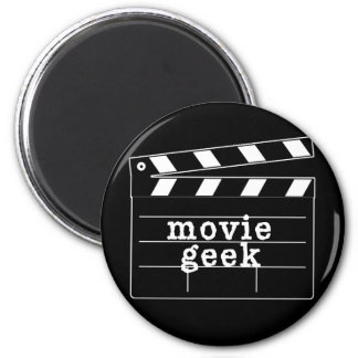 Movie Geek with Clapboard Magnet