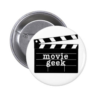 Movie Geek with Clapboard Pinback Button