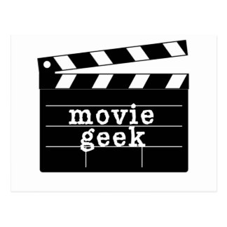Movie Geek with Clapboard Postcard