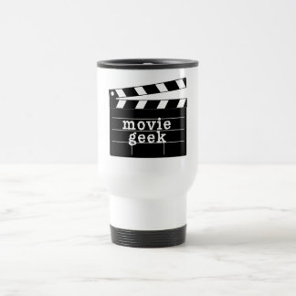 Movie Geek with Clapboard Travel Mug