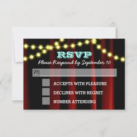 Bar bat mitzvah transportation mini bus card zazzle movie lights aqua bat mitzvah rsvp card m4hsunfo
