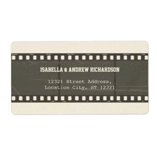 Movie Love Address Label
