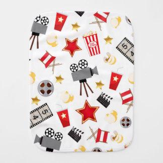 Movie Lover Pattern Burp Cloth