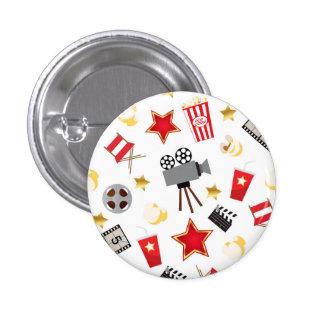 Movie Lover Pattern Pinback Button