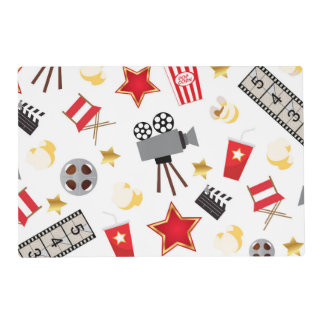 Movie Lover Pattern Placemat