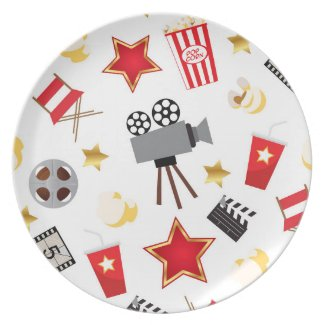 Movie Lover Pattern Plate