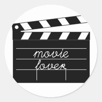 Movie Lover Tshirt Classic Round Sticker