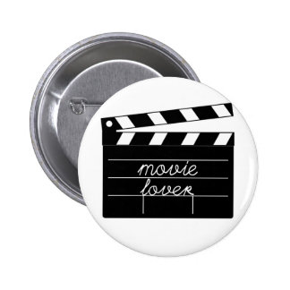 Movie Lover Tshirt Pinback Buttons