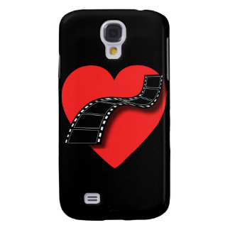 Movie Lover with Red Heart and Film Strip Galaxy S4 Case