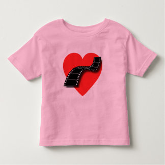 Movie Lover with Red Heart and Film Strip Toddler T-shirt