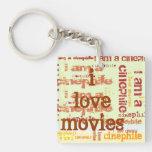 Movie lovers keychain acrylic key chain