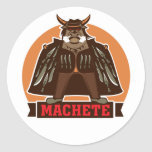movie machete round stickers