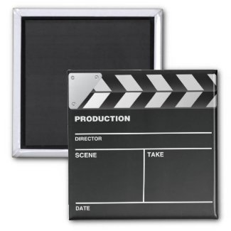 Movie maker Clap Board Fridge Magnet