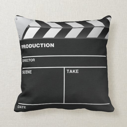 Movie maker Clap Board Throw Pillow Zazzle