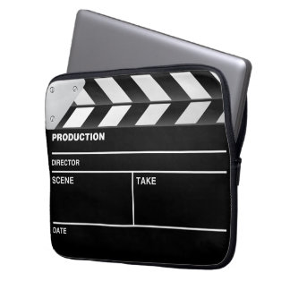 Movie maker clapper board Laptop Case Laptop Sleeves