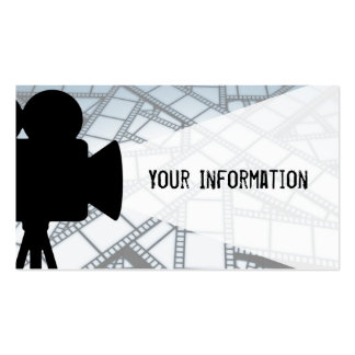 Movie maker Double-Sided standard business cards (Pack of 100)