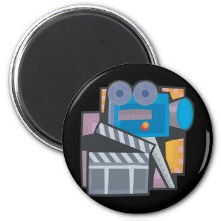 Movie Making 2 Inch Round Magnet