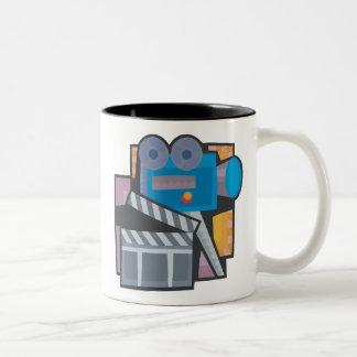Movie Making Two-Tone Coffee Mug