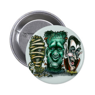 Movie Monsters Pinback Button
