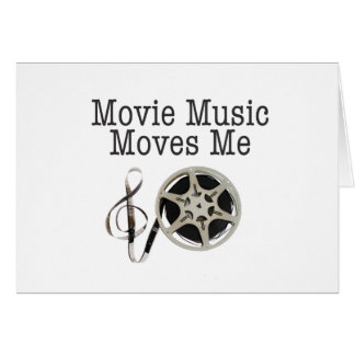 Movie Music Moves Me Greeting Card
