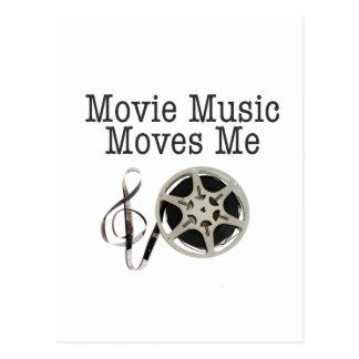 Movie Music Moves Me Postcard