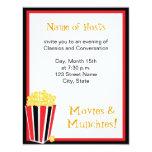 "Movie Night 4.25"" X 5.5"" Invitation Card"