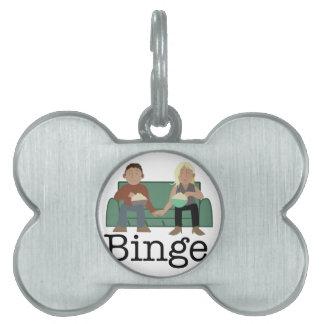 Movie Night Binge Pet ID Tag