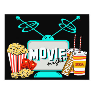 Movie Night Birthday Party Celebration Card