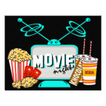 Movie Night Birthday Party Celebration Personalized Announcement