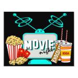 "Movie Night Birthday Party Celebration 4.25"" X 5.5"" Invitation Card"