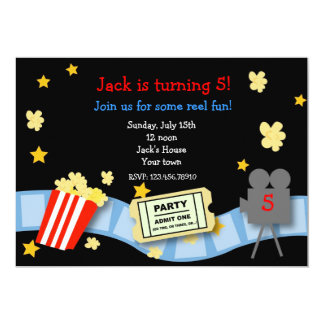 Movie Night Birthday Party invitations
