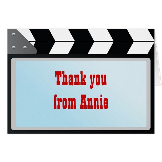 Movie Night Birthday Party Thank You Note Card