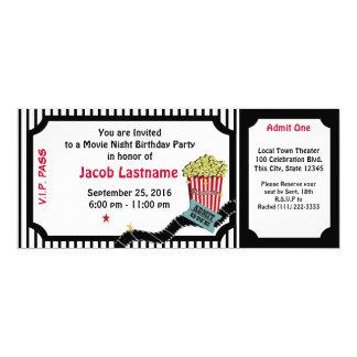 Movie Night Birthday Ticket Card