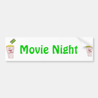 Movie Night Bumper Sticker