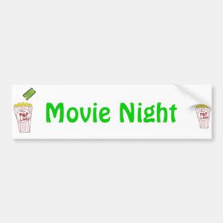 Movie Night Bumper Sticker