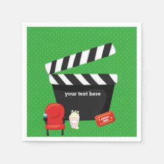 Movie night * choose background color napkin