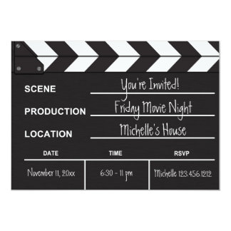 Movie Night Clapboard Invitation
