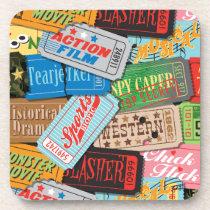Movie Night Cork Coasters Set/6 (Style B)