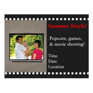 Movie Night Event Invitation Postcard