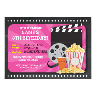 movie night invitations zazzle