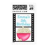 Movie Night Film Popcorn Postage Stamps
