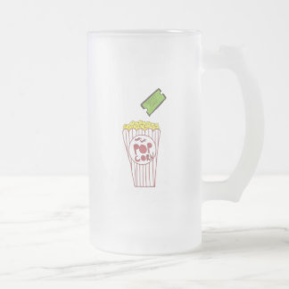 Movie Night Frosted Glass Beer Mug