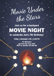 under the stars invitations zazzle