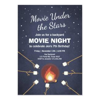 Movie Night Invitation Under the Stars Bonfire